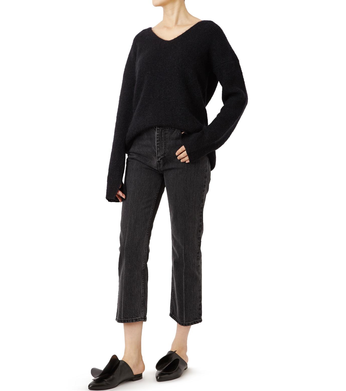 LE CIEL BLEU(ルシェルブルー)のセンタープレスデニムパンツ-BLACK(パンツ/pants)-18A68515 拡大詳細画像3