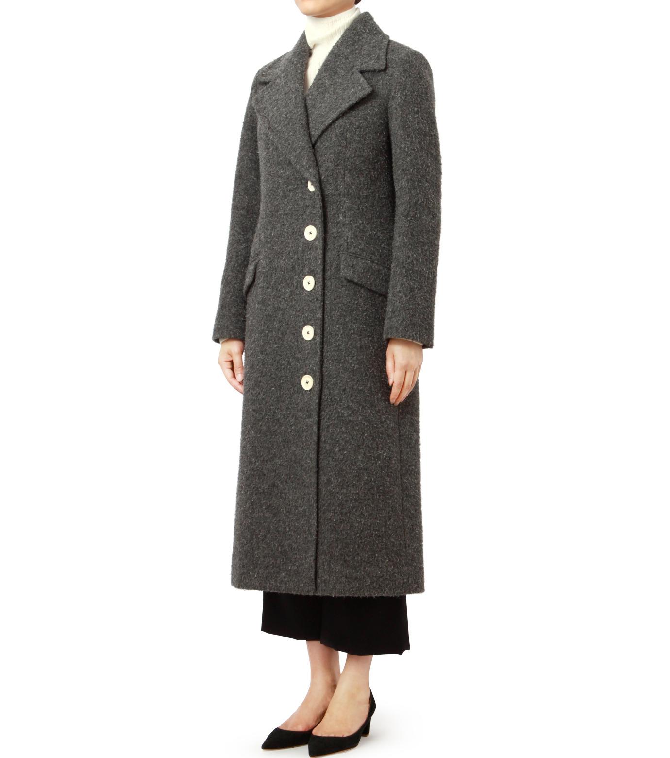LE CIEL BLEU(ルシェルブルー)のハードナッピングレディシルエットコート-GRAY(コート/coat)-18A69402 拡大詳細画像1