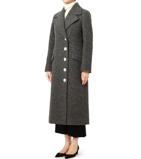 LE CIEL BLEU(ルシェルブルー)のハードナッピングレディシルエットコート-GRAY(コート/coat)-18A69402 詳細画像1