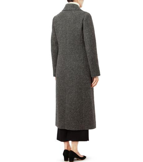LE CIEL BLEU(ルシェルブルー)のハードナッピングレディシルエットコート-GRAY(コート/coat)-18A69402 詳細画像2