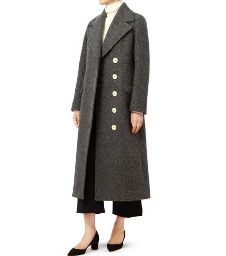 LE CIEL BLEU(ルシェルブルー)のハードナッピングレディシルエットコート-GRAY(コート/coat)-18A69402 詳細画像3