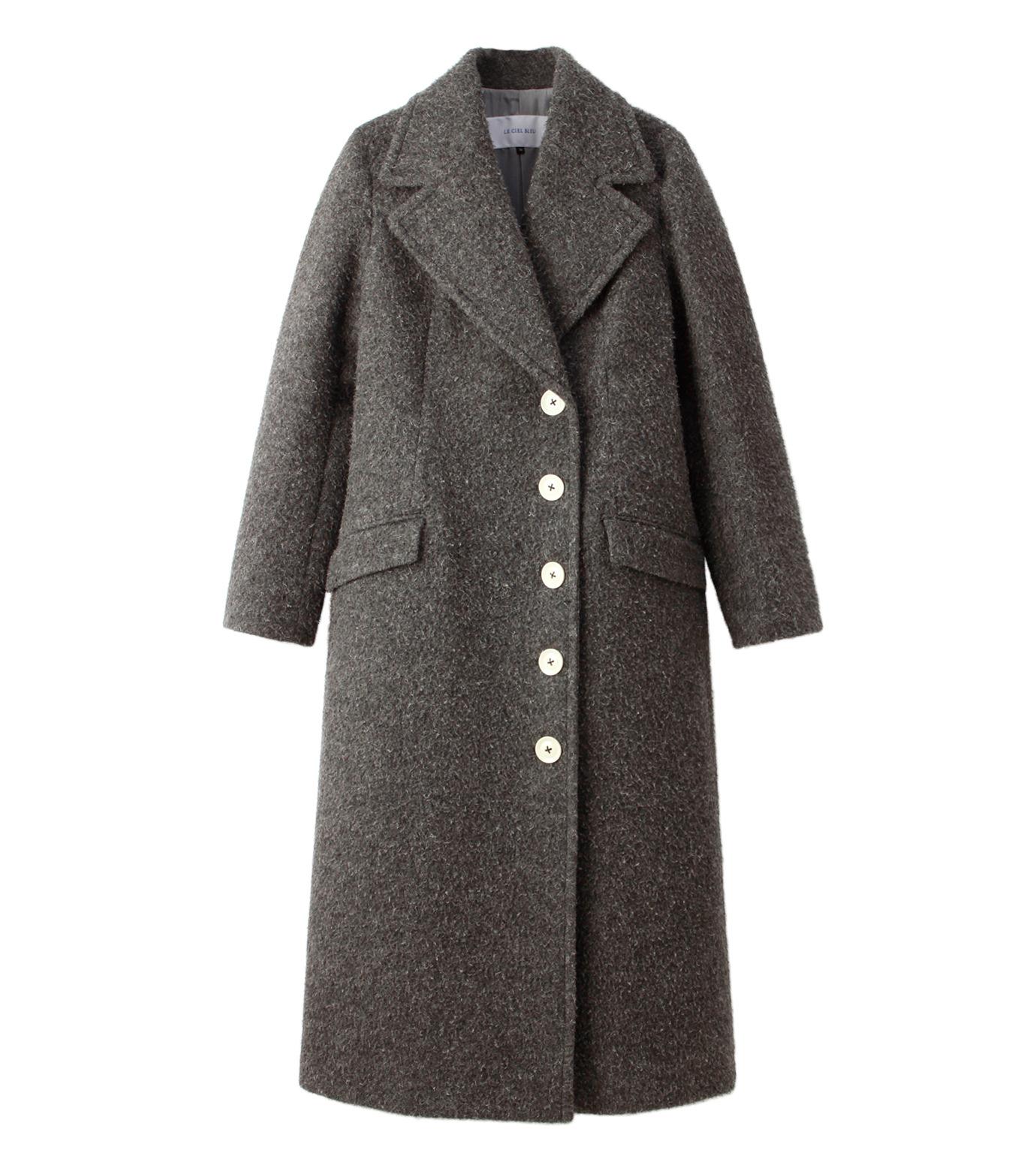 LE CIEL BLEU(ルシェルブルー)のハードナッピングレディシルエットコート-GRAY(コート/coat)-18A69402 拡大詳細画像4