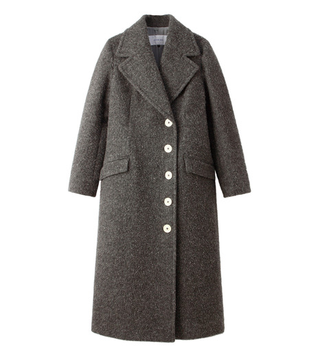 LE CIEL BLEU(ルシェルブルー)のハードナッピングレディシルエットコート-GRAY(コート/coat)-18A69402 詳細画像4