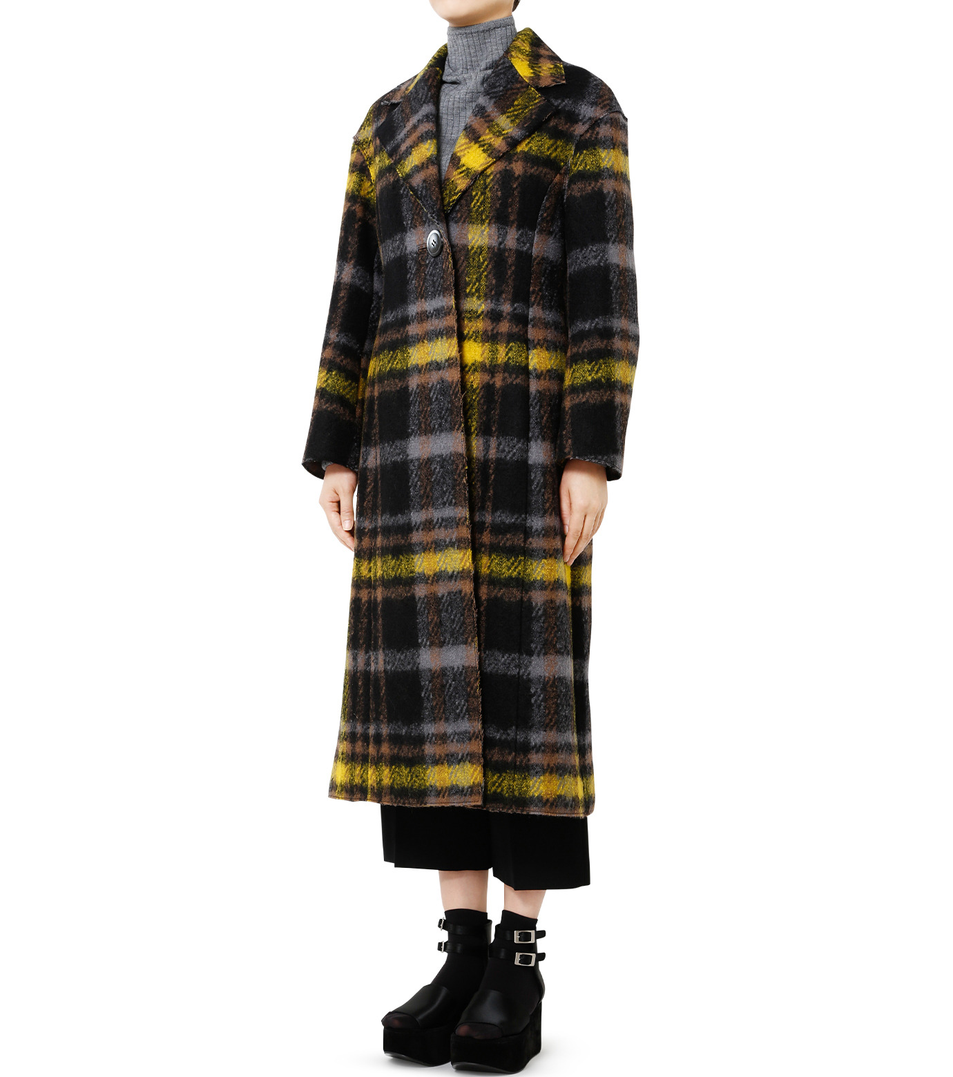 LE CIEL BLEU(ルシェルブルー)のハードフェルティングチェスターコート-YELLOW(コート/coat)-18A69403 拡大詳細画像1