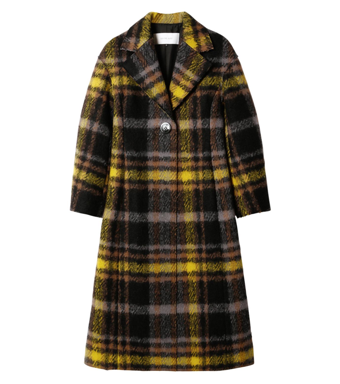 LE CIEL BLEU(ルシェルブルー)のハードフェルティングチェスターコート-YELLOW(コート/coat)-18A69403 拡大詳細画像4