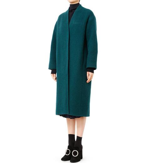 LE CIEL BLEU(ルシェルブルー)のバルーンビッグコート-GREEN(コート/coat)-18A69405 詳細画像1