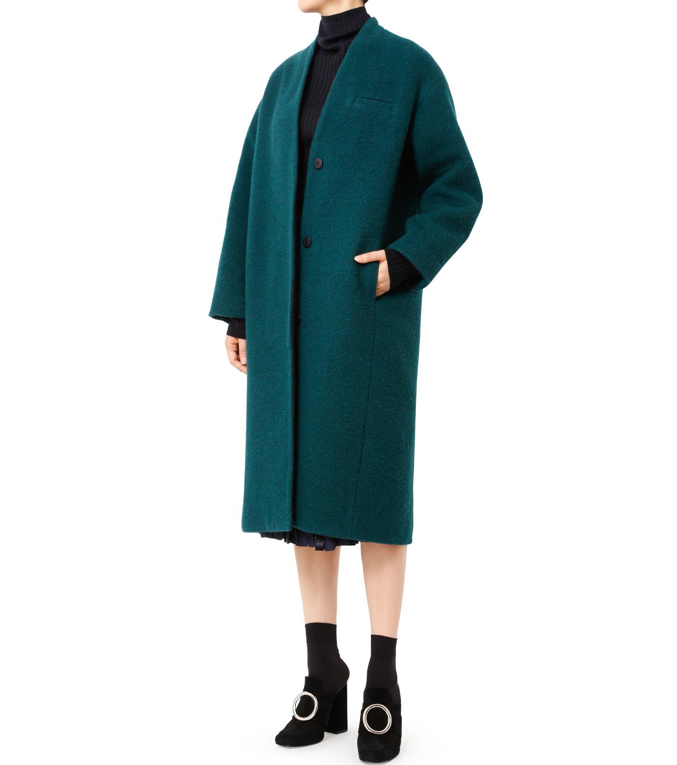 LE CIEL BLEU(ルシェルブルー)のバルーンビッグコート-GREEN(コート/coat)-18A69405 拡大詳細画像3