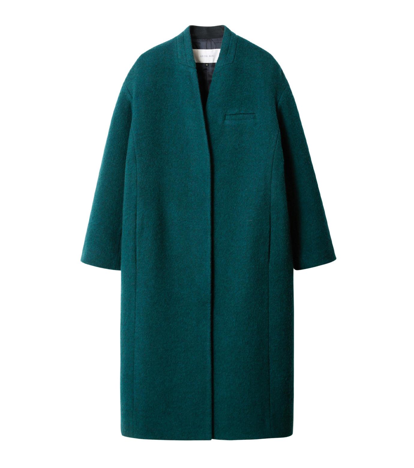 LE CIEL BLEU(ルシェルブルー)のバルーンビッグコート-GREEN(コート/coat)-18A69405 拡大詳細画像4