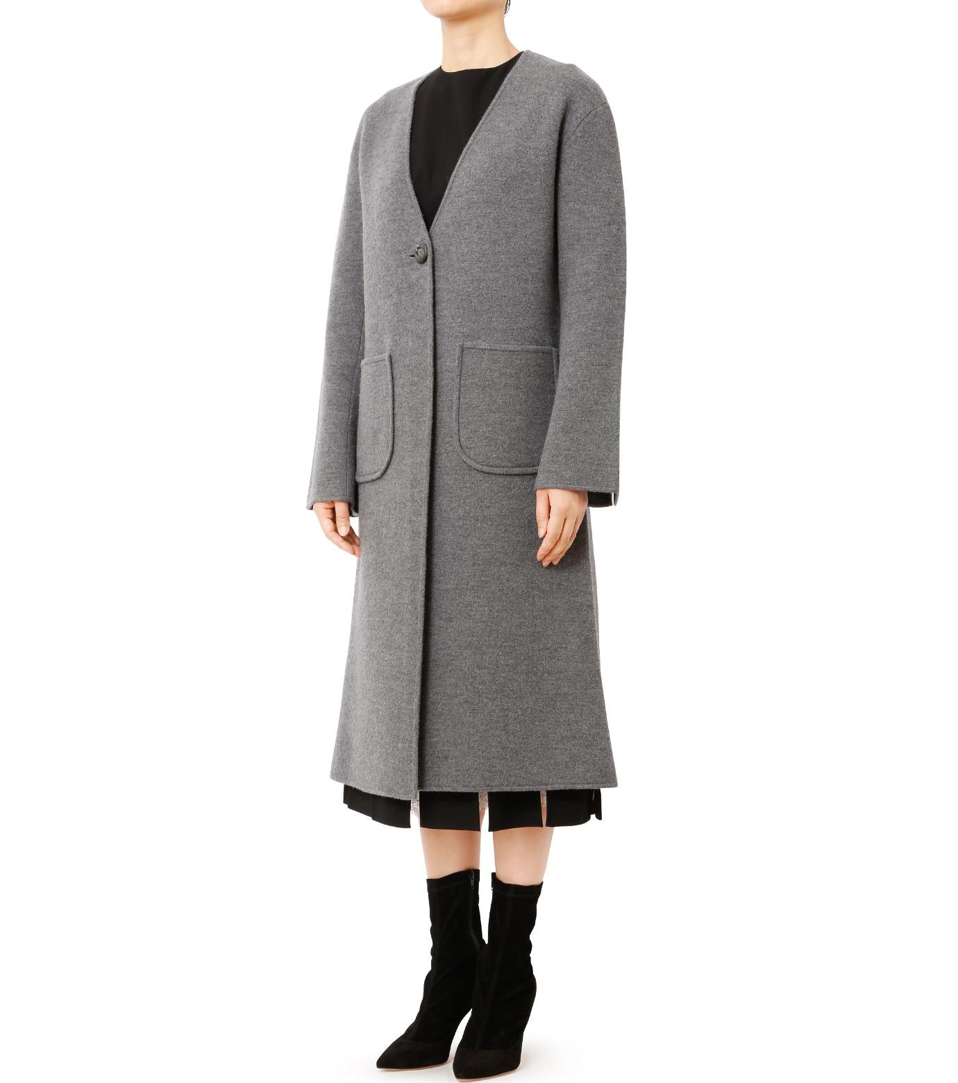 LE CIEL BLEU(ルシェルブルー)のニットコーディガン-GRAY(コート/coat)-18A69407 拡大詳細画像1
