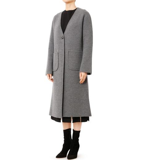 LE CIEL BLEU(ルシェルブルー)のニットコーディガン-GRAY(コート/coat)-18A69407 詳細画像1