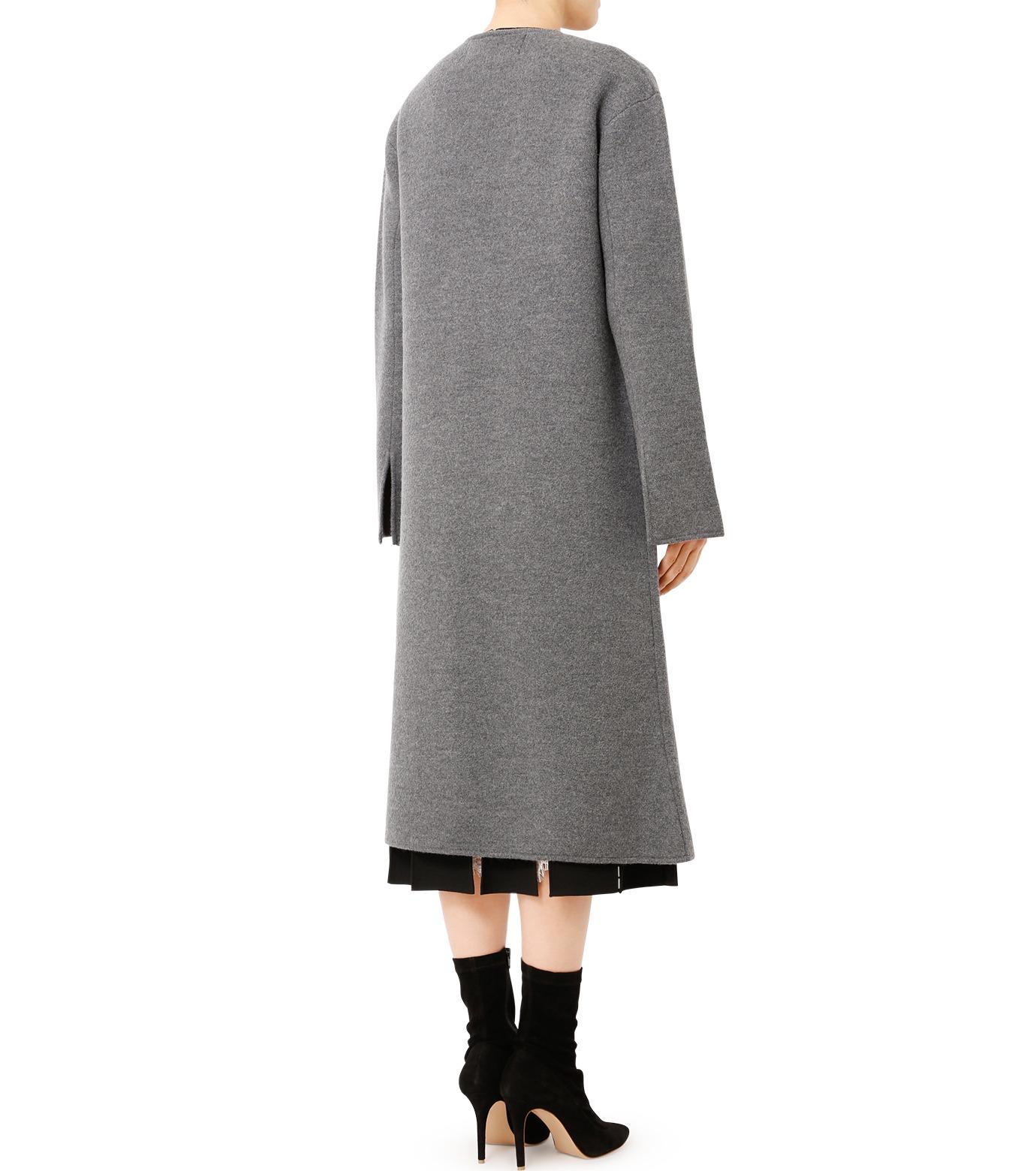 LE CIEL BLEU(ルシェルブルー)のニットコーディガン-GRAY(コート/coat)-18A69407 拡大詳細画像2