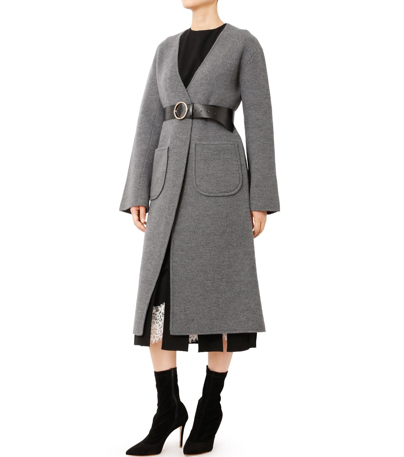 LE CIEL BLEU(ルシェルブルー)のニットコーディガン-GRAY(コート/coat)-18A69407 拡大詳細画像3