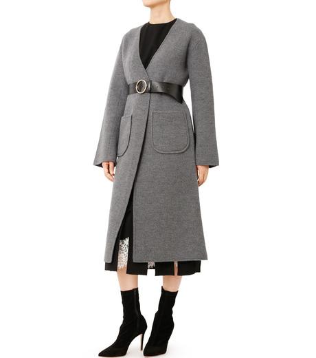 LE CIEL BLEU(ルシェルブルー)のニットコーディガン-GRAY(コート/coat)-18A69407 詳細画像3