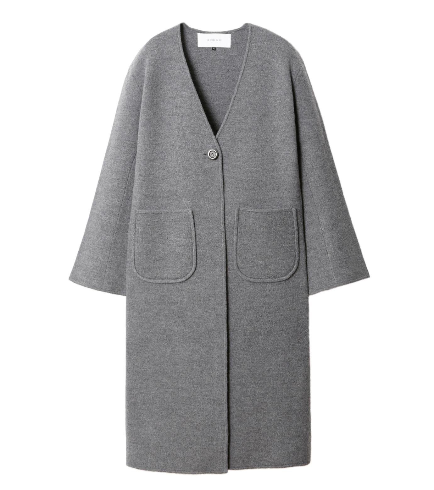 LE CIEL BLEU(ルシェルブルー)のニットコーディガン-GRAY(コート/coat)-18A69407 拡大詳細画像4