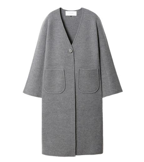LE CIEL BLEU(ルシェルブルー)のニットコーディガン-GRAY(コート/coat)-18A69407 詳細画像4