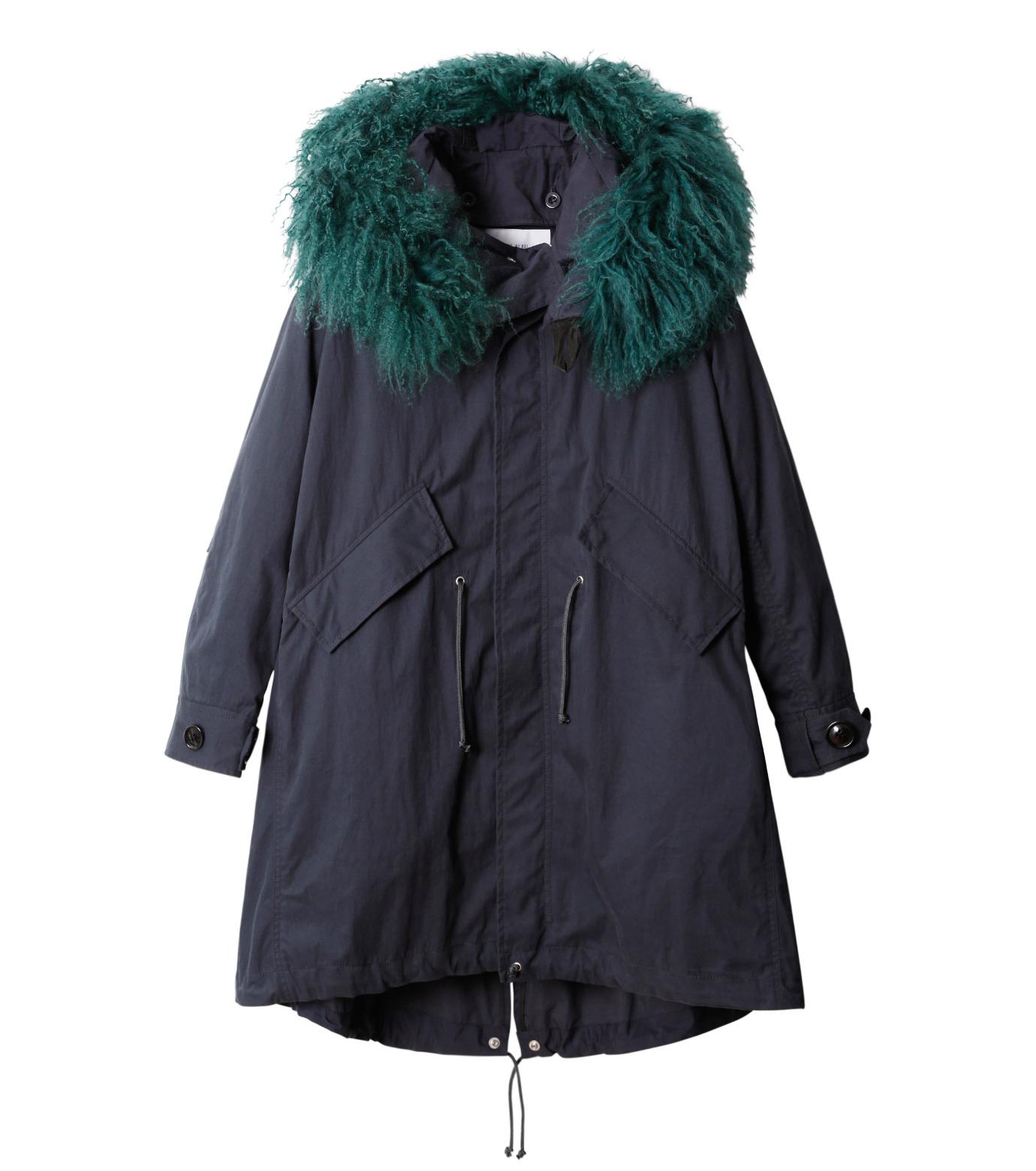 LE CIEL BLEU(ルシェルブルー)のファーカラーモッズコート-NAVY(コート/coat)-18A69409 拡大詳細画像4