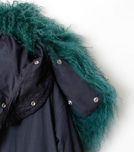 LE CIEL BLEU(ルシェルブルー)のファーカラーモッズコート-NAVY(コート/coat)-18A69409 詳細画像5