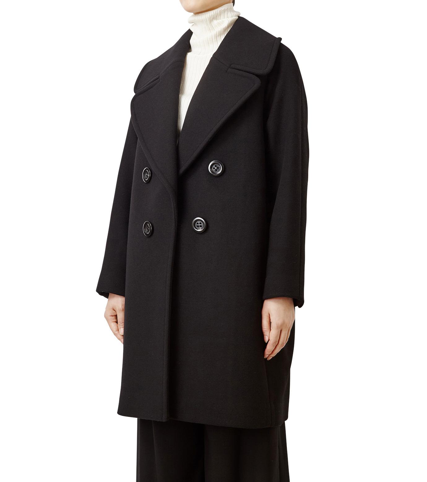LE CIEL BLEU(ルシェルブルー)のビッグカラーコート-BLACK(コート/coat)-18A69511 拡大詳細画像1