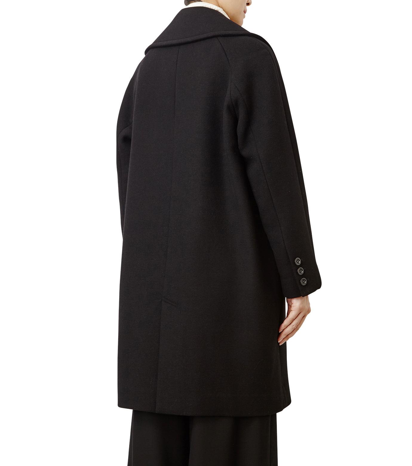 LE CIEL BLEU(ルシェルブルー)のビッグカラーコート-BLACK(コート/coat)-18A69511 拡大詳細画像2