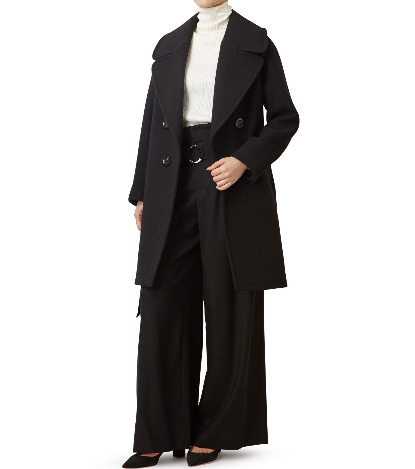 LE CIEL BLEU(ルシェルブルー)のビッグカラーコート-BLACK(コート/coat)-18A69511 拡大詳細画像3