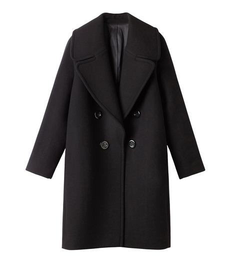 LE CIEL BLEU(ルシェルブルー)のビッグカラーコート-BLACK(コート/coat)-18A69511 詳細画像4
