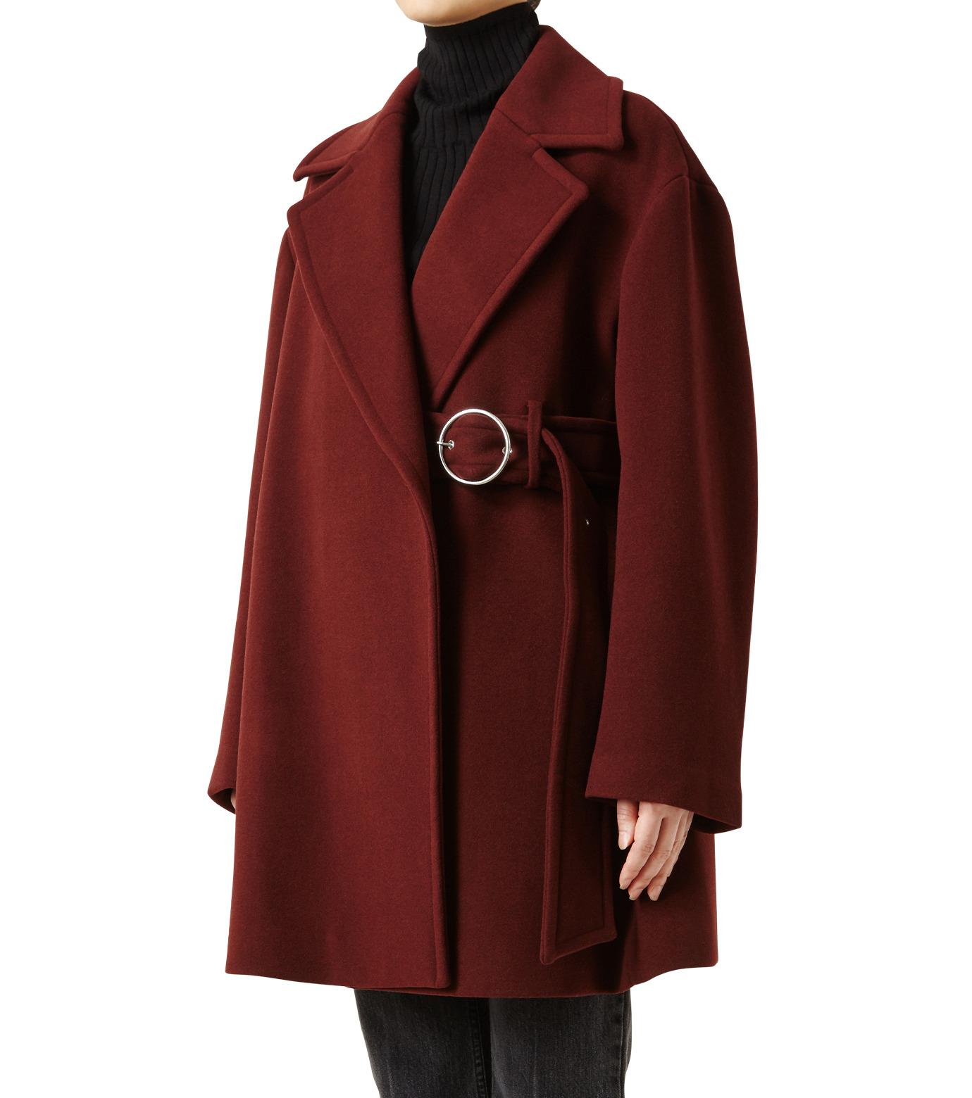 LE CIEL BLEU(ルシェルブルー)のベルトオーバーコート-BORDEAUX(コート/coat)-18A69512 拡大詳細画像1