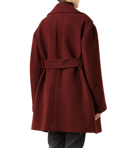 LE CIEL BLEU(ルシェルブルー)のベルトオーバーコート-BORDEAUX(コート/coat)-18A69512 詳細画像2