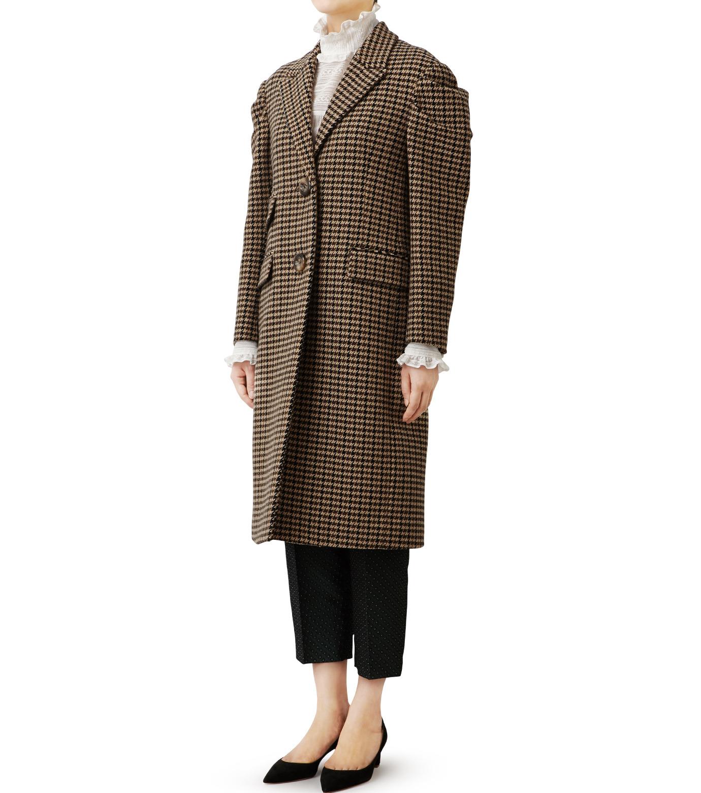 LE CIEL BLEU(ルシェルブルー)のガンクラブチェックパフコート-BEIGE(コート/coat)-18A69513 拡大詳細画像2
