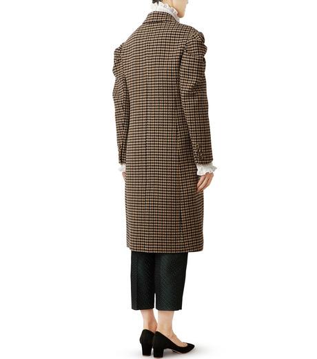 LE CIEL BLEU(ルシェルブルー)のガンクラブチェックパフコート-BEIGE(コート/coat)-18A69513 詳細画像3