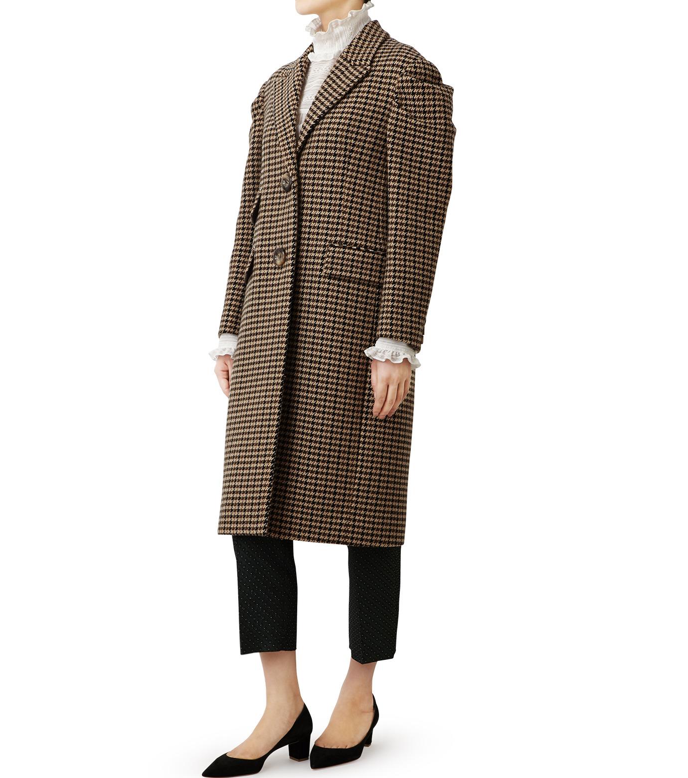 LE CIEL BLEU(ルシェルブルー)のガンクラブチェックパフコート-BEIGE(コート/coat)-18A69513 拡大詳細画像4