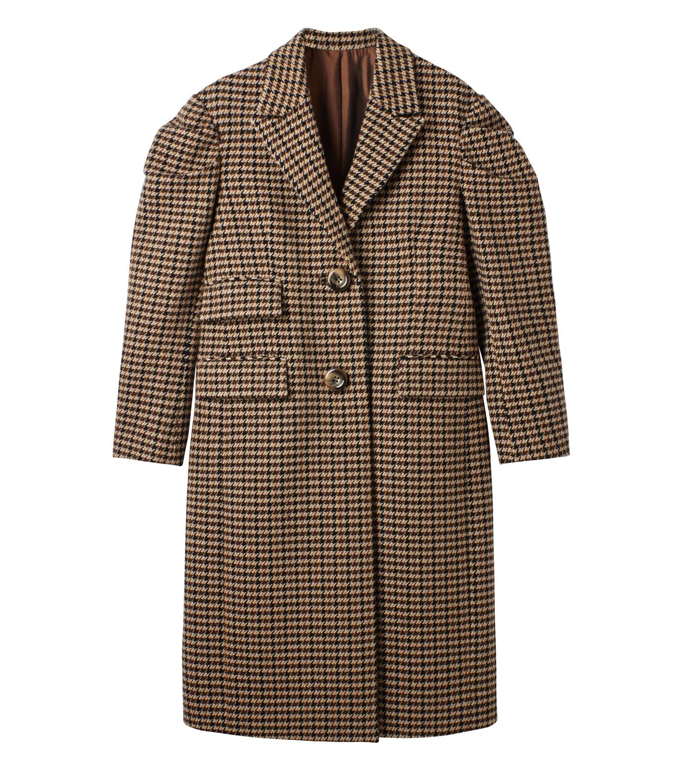 LE CIEL BLEU(ルシェルブルー)のガンクラブチェックパフコート-BEIGE(コート/coat)-18A69513 拡大詳細画像5