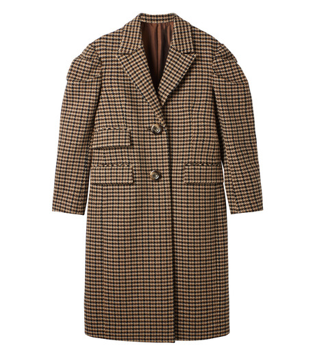 LE CIEL BLEU(ルシェルブルー)のガンクラブチェックパフコート-BEIGE(コート/coat)-18A69513 詳細画像5