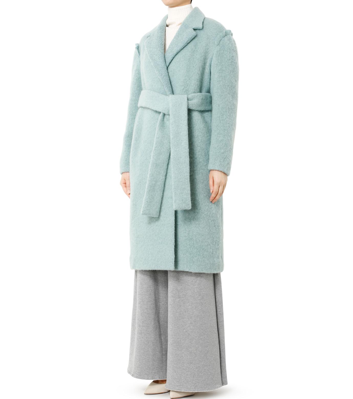 LE CIEL BLEU(ルシェルブルー)のローブシングルコート-LIGHT GREEN(コート/coat)-18A69615 拡大詳細画像1