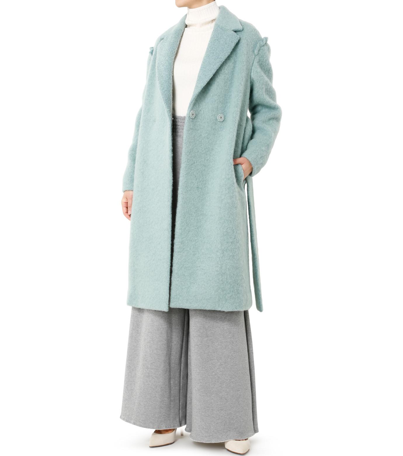 LE CIEL BLEU(ルシェルブルー)のローブシングルコート-LIGHT GREEN(コート/coat)-18A69615 拡大詳細画像3