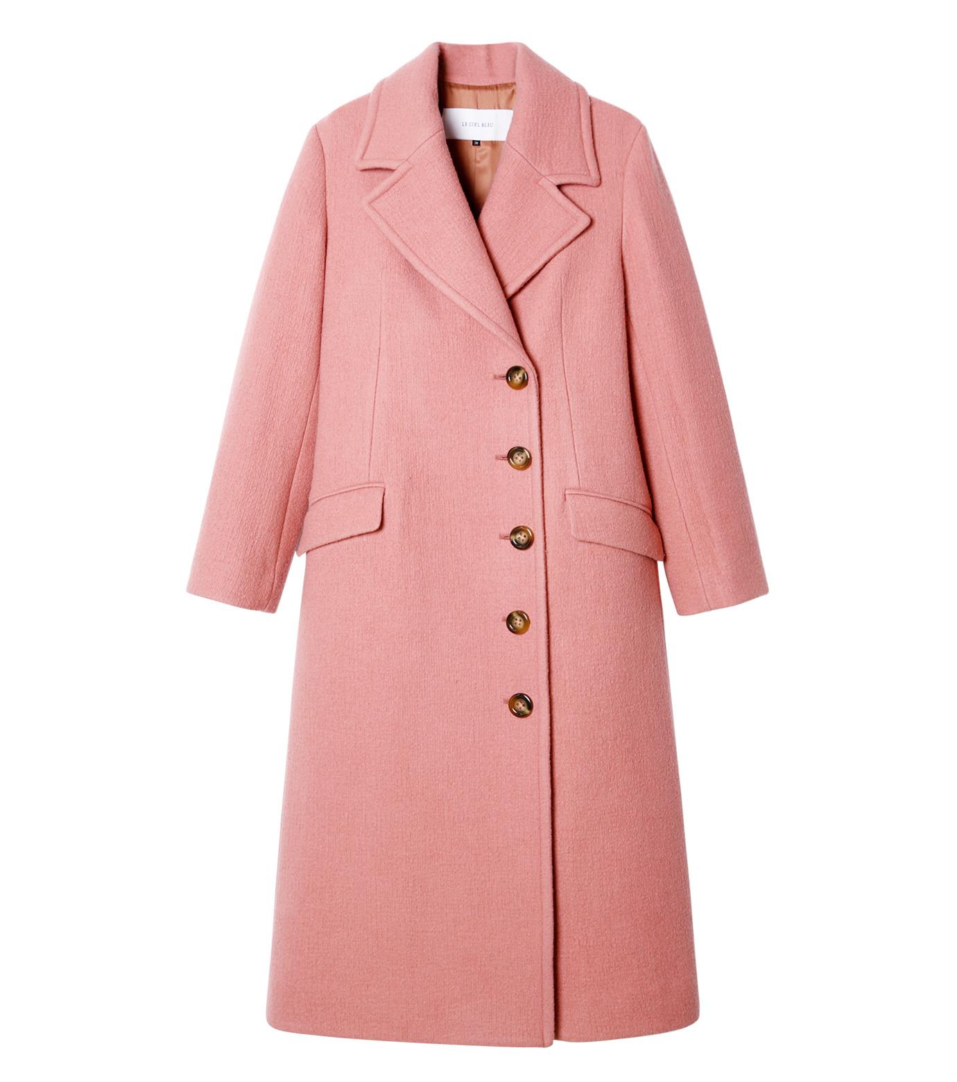LE CIEL BLEU(ルシェルブルー)のナッピングウールレディーコート-SALMON PINK(コート/coat)-18A69716 拡大詳細画像1
