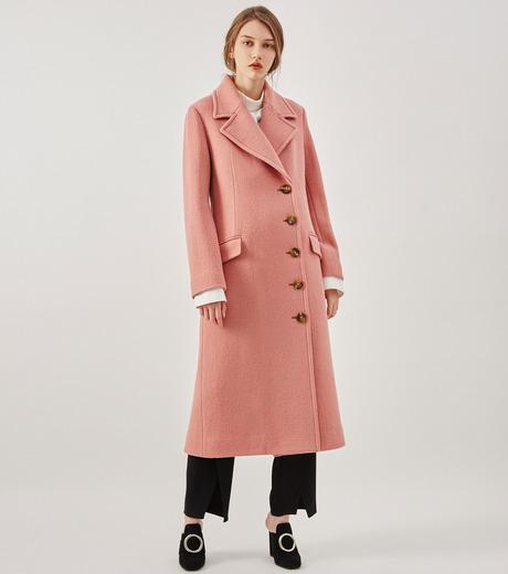 LE CIEL BLEU(ルシェルブルー)のナッピングウールレディーコート-SALMON PINK(コート/coat)-18A69716 詳細画像2