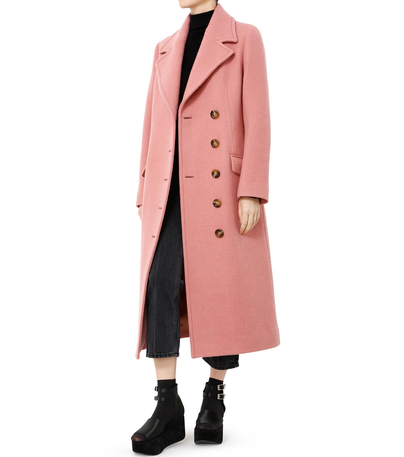 LE CIEL BLEU(ルシェルブルー)のナッピングウールレディーコート-SALMON PINK(コート/coat)-18A69716 拡大詳細画像3