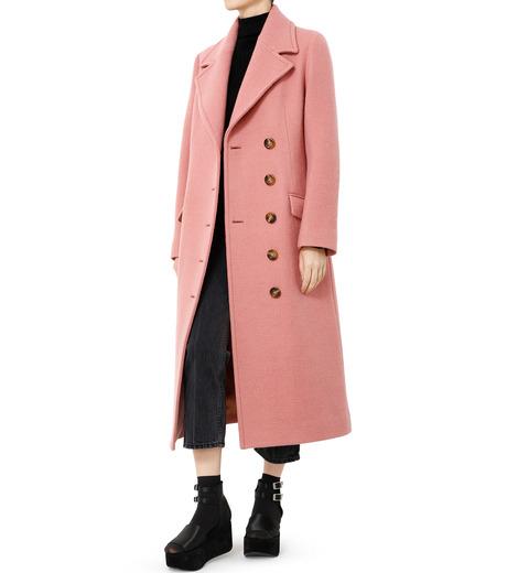 LE CIEL BLEU(ルシェルブルー)のナッピングウールレディーコート-SALMON PINK(コート/coat)-18A69716 詳細画像3