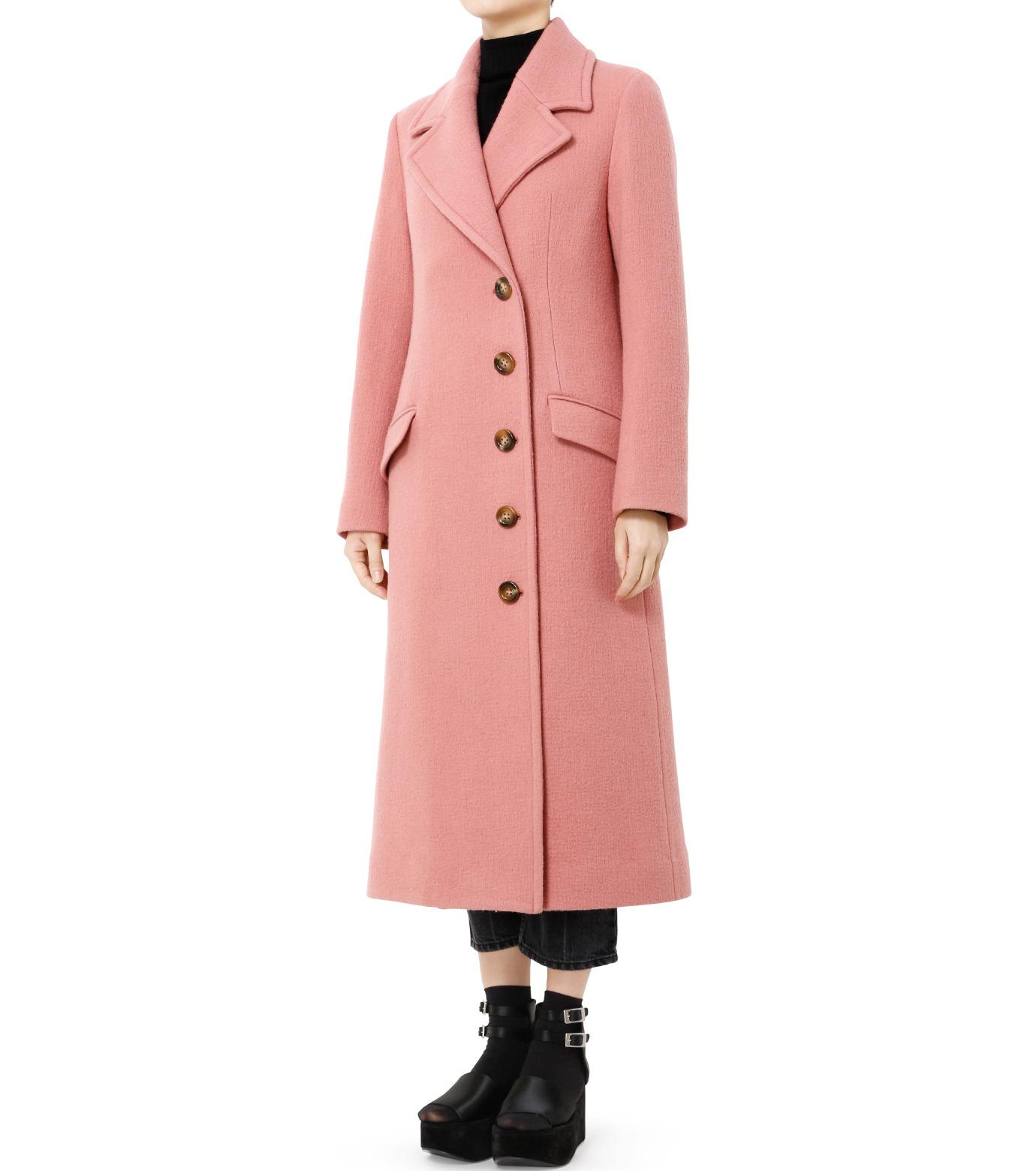 LE CIEL BLEU(ルシェルブルー)のナッピングウールレディーコート-SALMON PINK(コート/coat)-18A69716 拡大詳細画像4