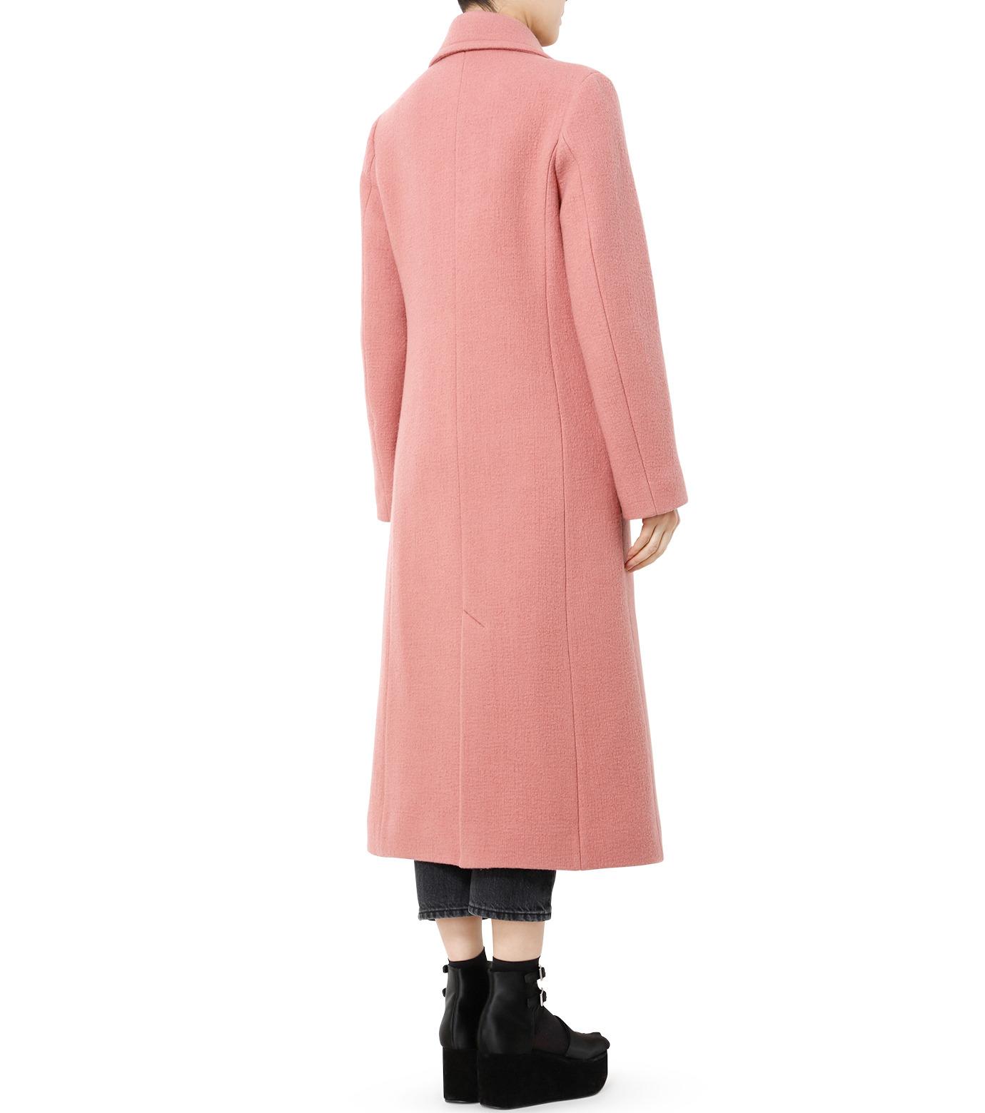 LE CIEL BLEU(ルシェルブルー)のナッピングウールレディーコート-SALMON PINK(コート/coat)-18A69716 拡大詳細画像5