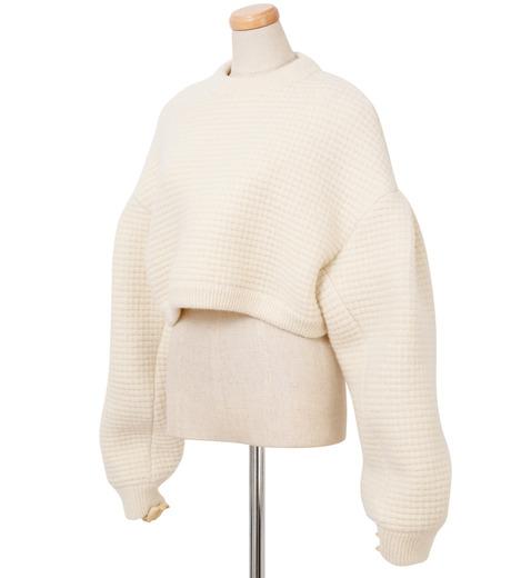 IRENE(アイレネ)のボイルワッフルニット-WHITE(ニット/knit)-18A81001 詳細画像2