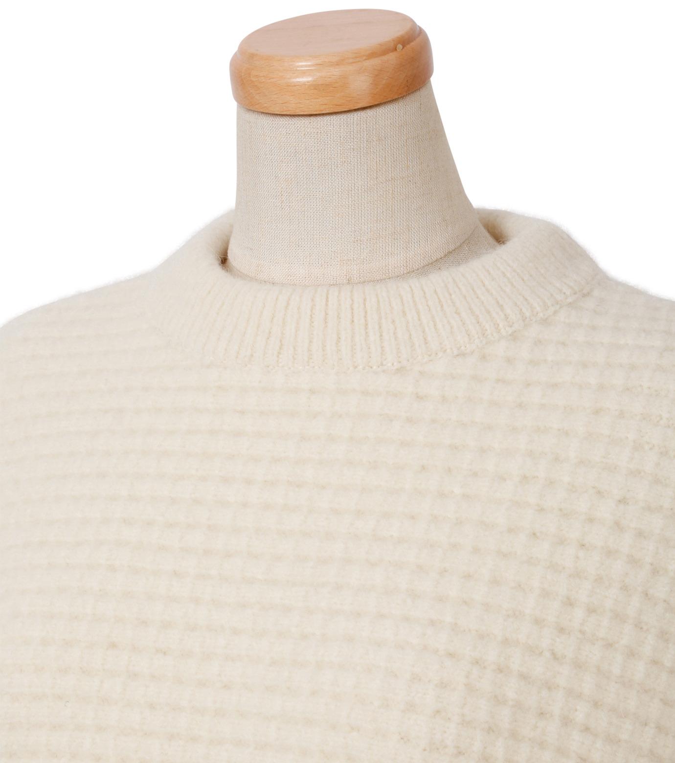 IRENE(アイレネ)のボイルワッフルニット-WHITE(ニット/knit)-18A81001 拡大詳細画像4