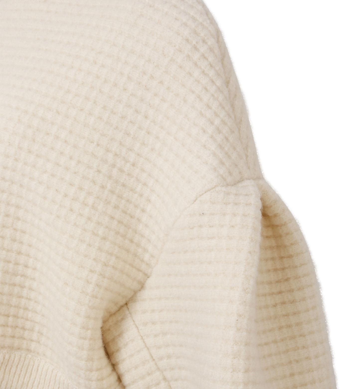 IRENE(アイレネ)のボイルワッフルニット-WHITE(ニット/knit)-18A81001 拡大詳細画像5