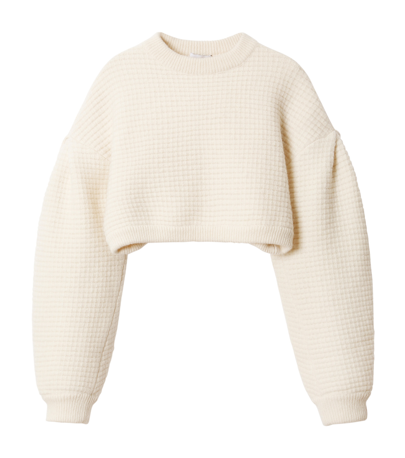 IRENE(アイレネ)のボイルワッフルニット-WHITE(ニット/knit)-18A81001 拡大詳細画像7