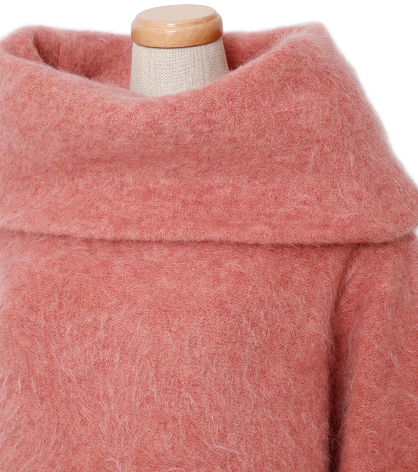 IRENE(アイレネ)のモヘアオフショルダーニット-SMOKE PINK(ニット/knit)-18A81003 拡大詳細画像4