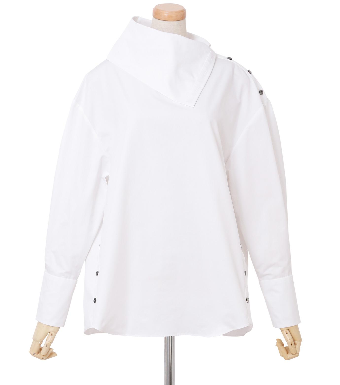 IRENE(アイレネ)のサイドウェイカラーシャツ-WHITE(シャツ/shirt)-18A83003 拡大詳細画像1