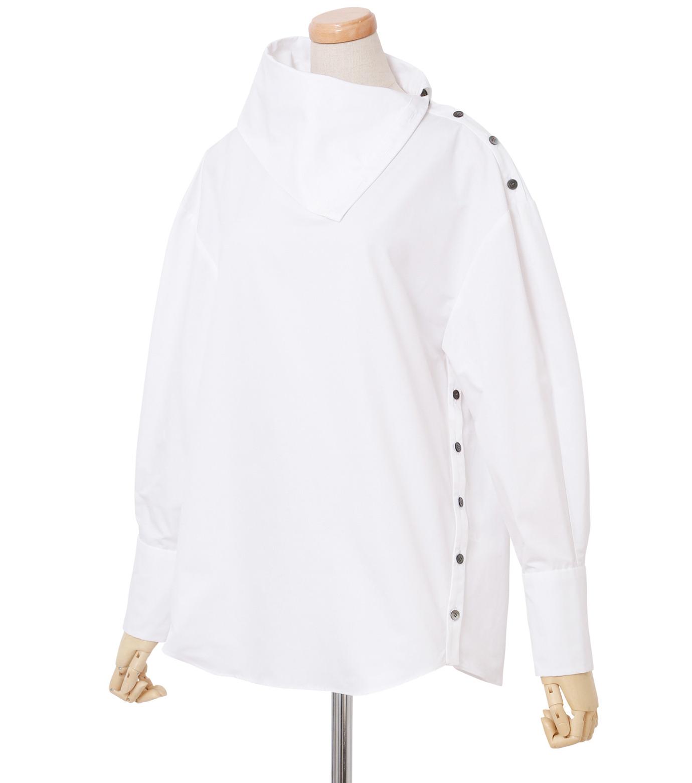 IRENE(アイレネ)のサイドウェイカラーシャツ-WHITE(シャツ/shirt)-18A83003 拡大詳細画像2