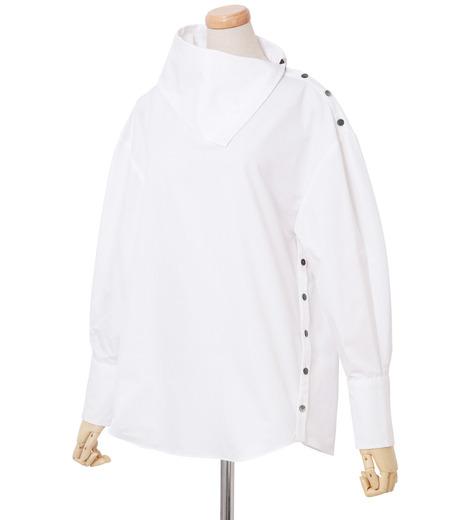 IRENE(アイレネ)のサイドウェイカラーシャツ-WHITE(シャツ/shirt)-18A83003 詳細画像2
