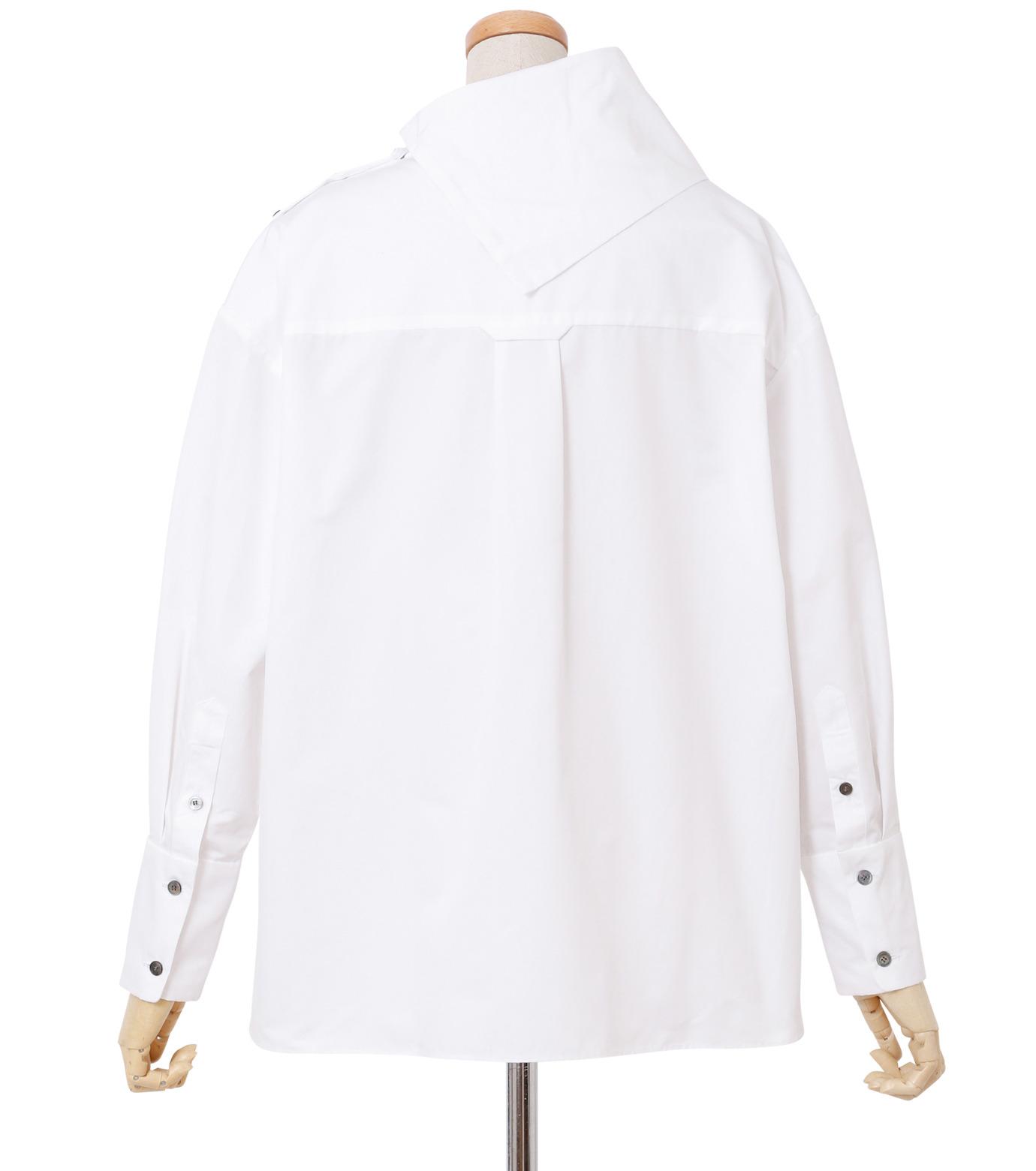 IRENE(アイレネ)のサイドウェイカラーシャツ-WHITE(シャツ/shirt)-18A83003 拡大詳細画像3