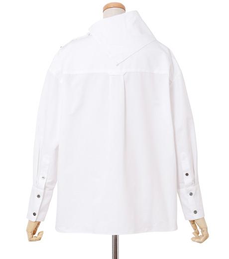 IRENE(アイレネ)のサイドウェイカラーシャツ-WHITE(シャツ/shirt)-18A83003 詳細画像3